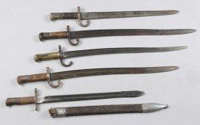 Lot Of 5: Chassepot Bayonets.