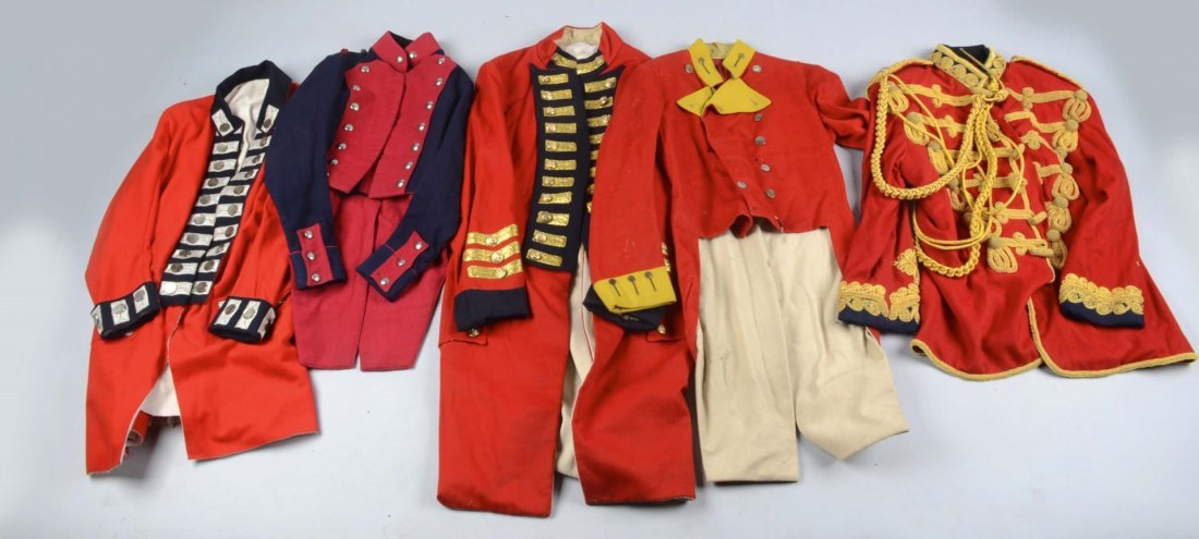 Lot of 5: Military Reproduction Uniforms.