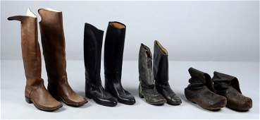 Lot of 4: Pairs of Military Style Boots.
