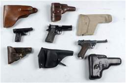 C Lot of 7 Handguns  Holsters
