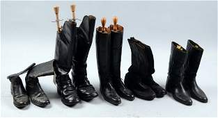 Lot of 5: Pairs of Military Style Boots.