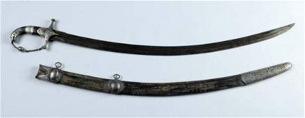 Indo-Persian Mameluke Saber with Scabbard.