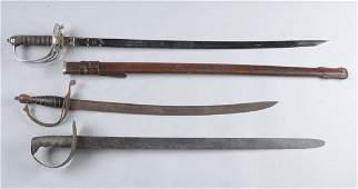 Lot of 3: British, Civil War & Excavated Swords.
