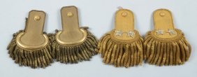 Lot Of 4: Two Pairs Of Officer Epaulettes.