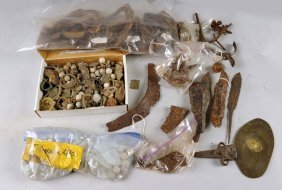 Box Of Excavated French Revolution Relics