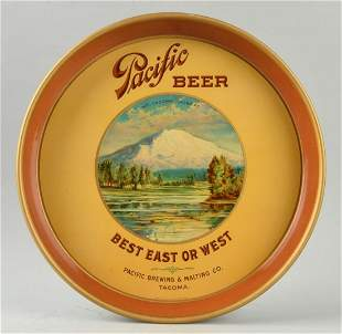 Pacific Beer Advertising Serving Tray.