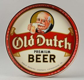 Old Dutch Beer Advertising Serving Tray.