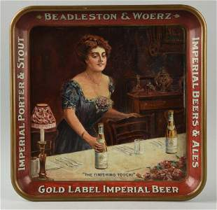 Beadleston & Woerz Imperial Beer Serving Tray.