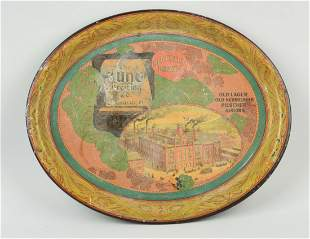 Jung Brewing Co. Advertising Serving Tray.