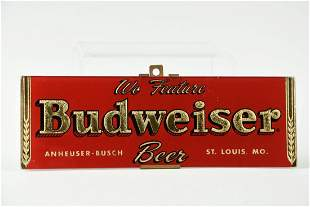 Vintage Budweiser Reverse on Glass Sign.