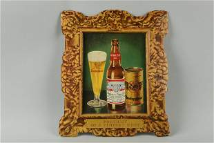 Budweiser Diecut Cardboard Advertising Sign.