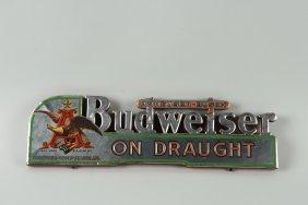 Budweiser Bar Back Advertising Sign.