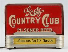 Goetz Country Club Beer Light-Up Display.