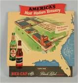 Red Cap Ale Diecut Cardboard Advertising Sign
