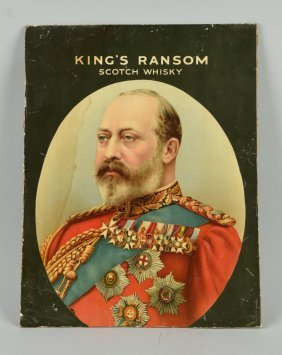 King's Ransom Whisky Card Board Sign.