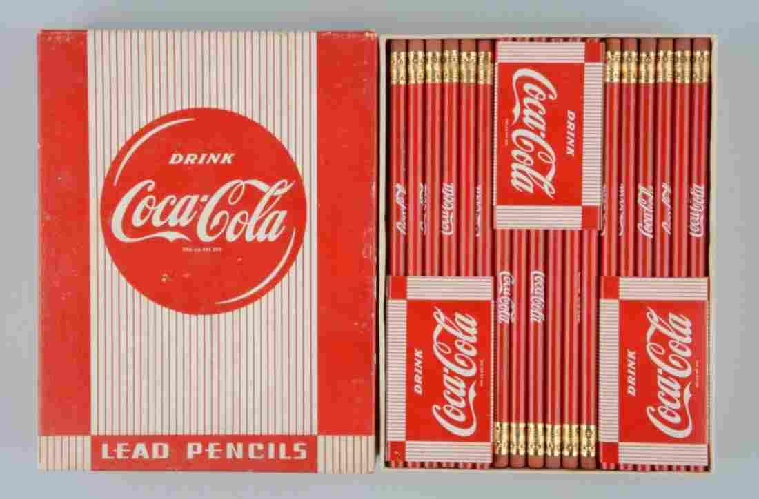 Box of Unused Coca-Cola Advertising Pencils.