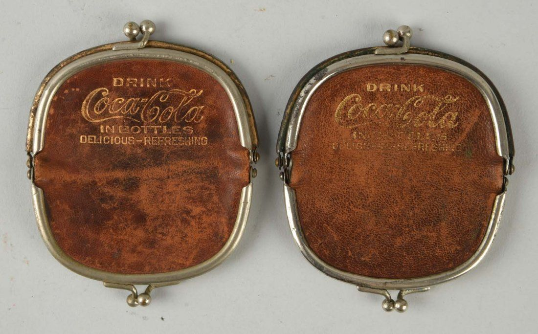 Lot Of 2: 1920's Coca-Cola Advertising Purses.
