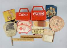 Lot of Coca-Cola Promotional Advertising Items.