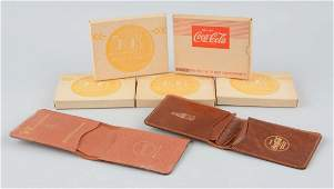 Lot Of 5: Coca-Cola Advertising Wallets.