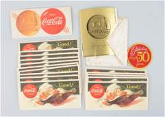 Lot of CocaCola Advertising Ink Blotters