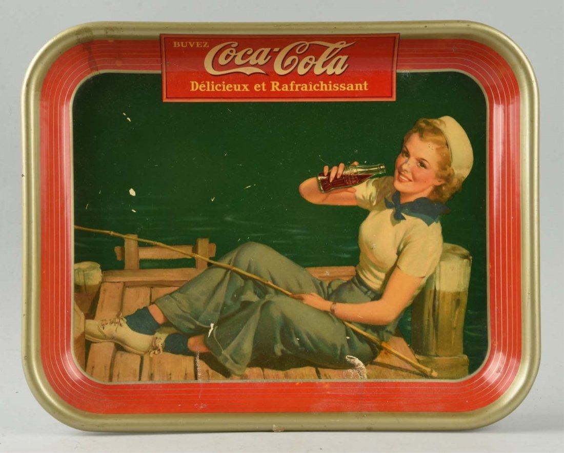 1940's Coca-Cola French Sailor Girl Serving Tray.