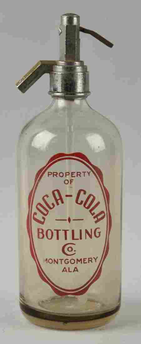 Unusual Coca-Cola Seltzer Bottle - Montgomery ALA.