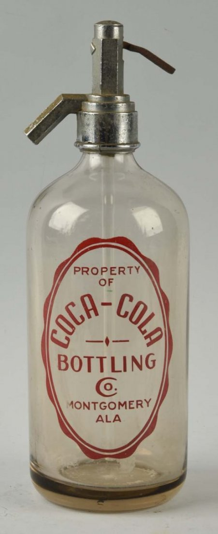 Unusual Coca-Cola Seltzer Bottle - Montgomery ALA.