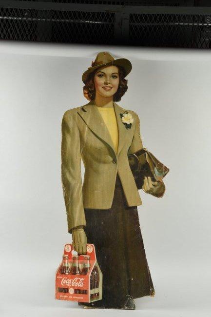 Coca - Cola Diecut Advertising Sign.