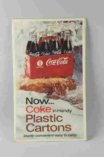 Coca-Cola 8-Pack Cardboard Advertising Sign.