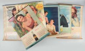 Lot Of 8: Nugrape & Squirt Advertising Calendars.