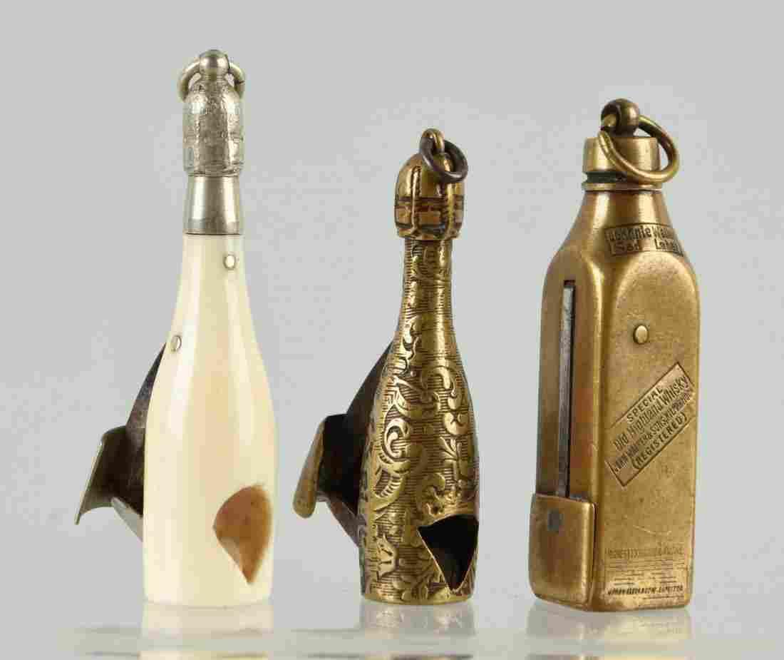 Lot Of 3: Figural Cigar Cutters.