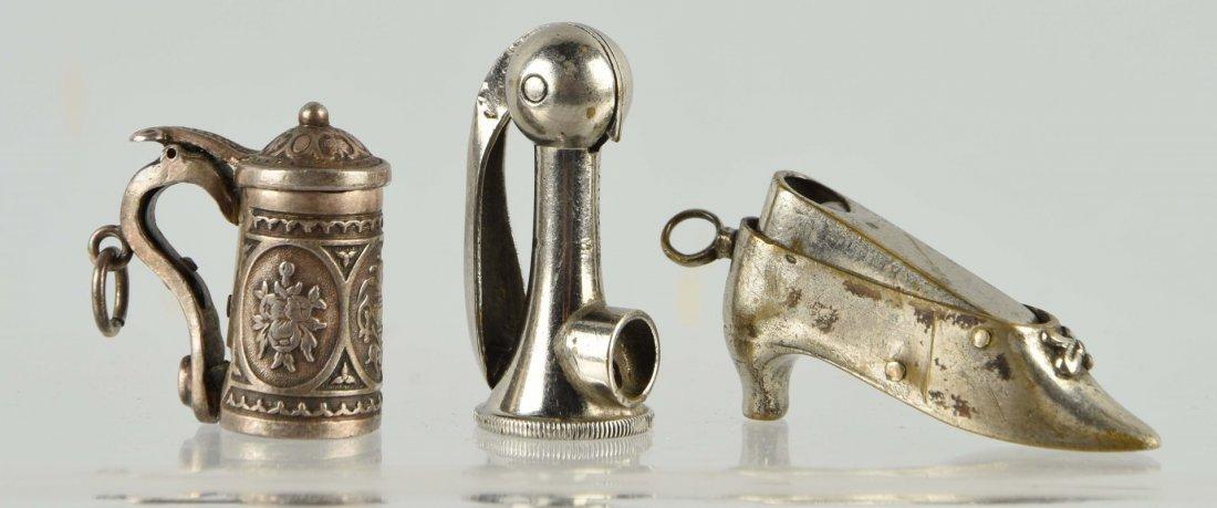 Lot Of 3: Figural Miniature Cigar Cutters.