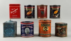 Lot Of 8: Assorted Tobacco Tins.