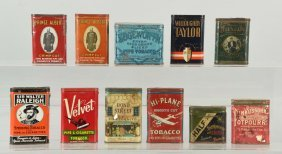 Lot Of 11: Assorted Tobacco Tins.
