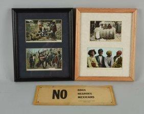 Lot Of 3: Black Americana Cards.