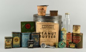 Large Lot Of Assorted General Store Tins.