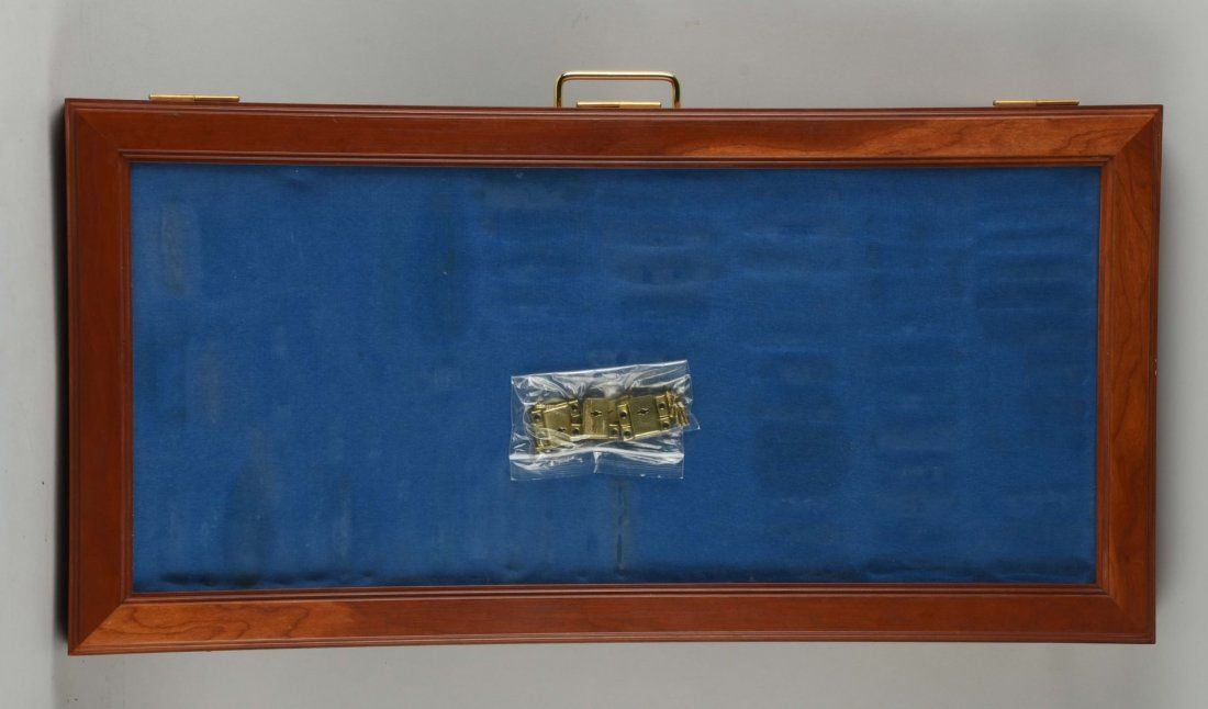 Large Wooden Glass Top Display Case.