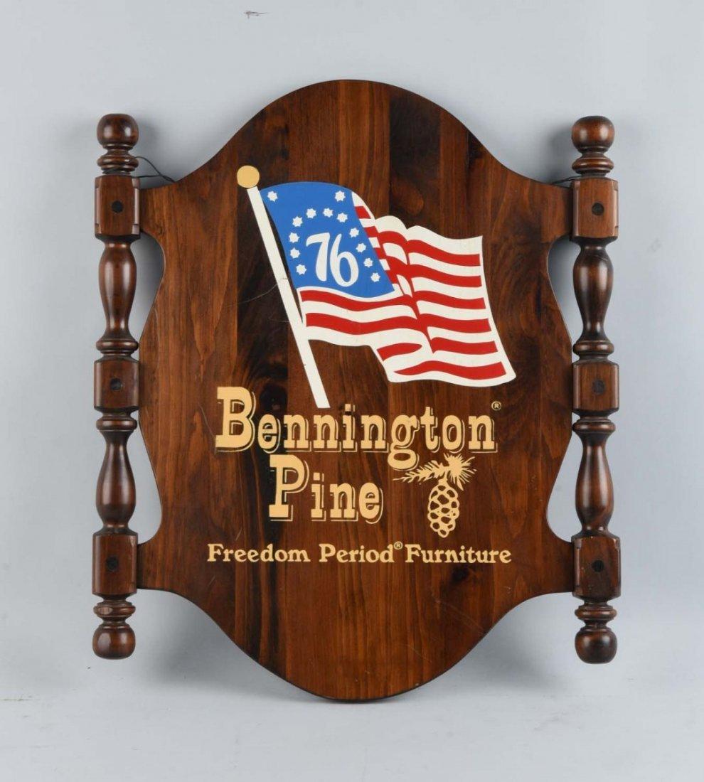 Bennington Pine Furniture Wooden Sign.