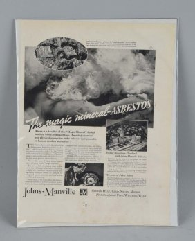 1936 Johns - Manville Magazine Advertisement.