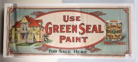 Green Seal Paint Advertising Banner.