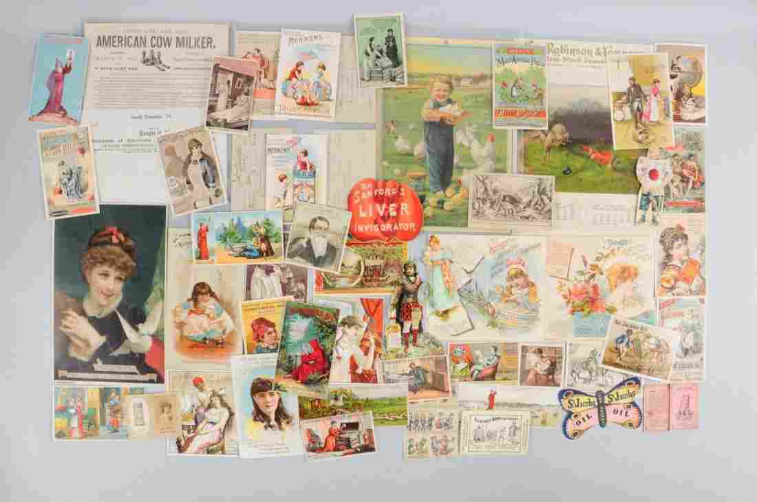 Lot of 30+: Agriculture Trade Cards & Paper Pcs.