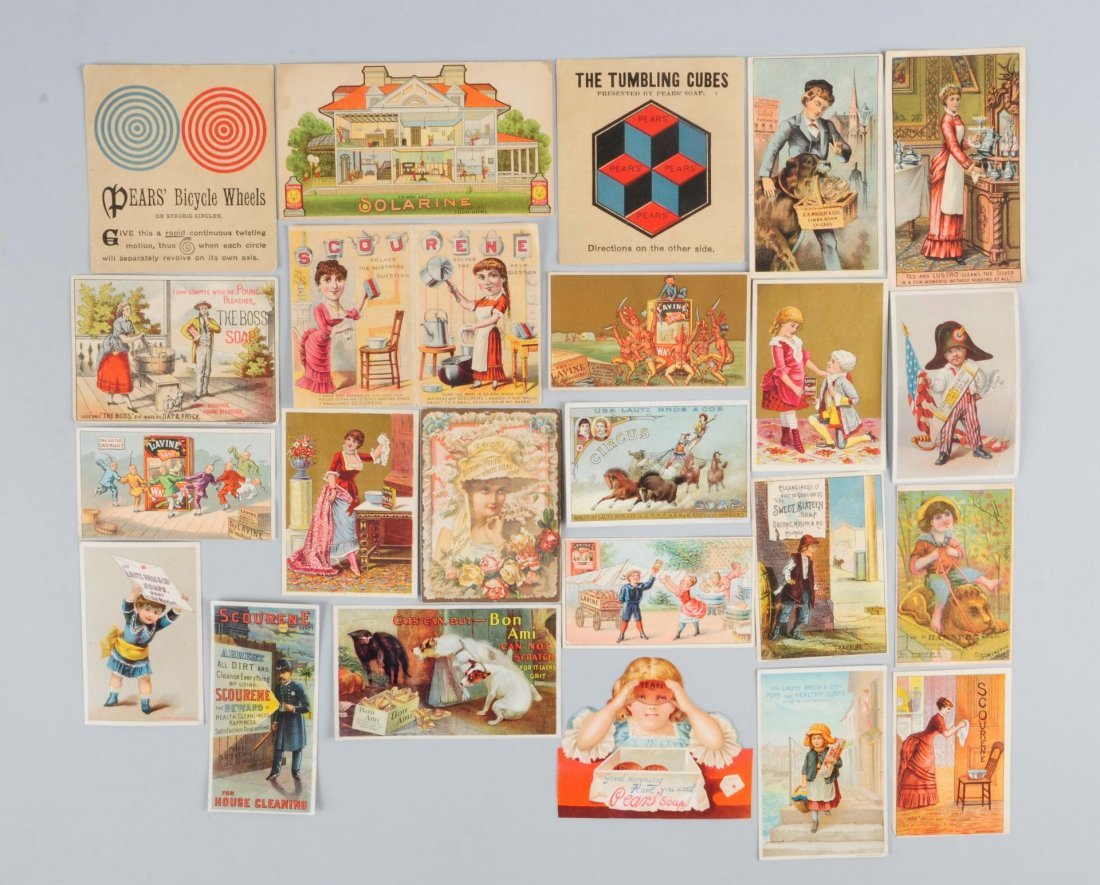 Lot of 10+: Soap Advertising Trade Cards.