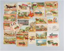 Lot of 20 Wagon Related Advertising Trade Cards