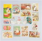 Lot of 15 Soap Related Advertising Trade Cards