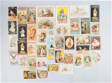 Large Lot of Vintage Trade Cards