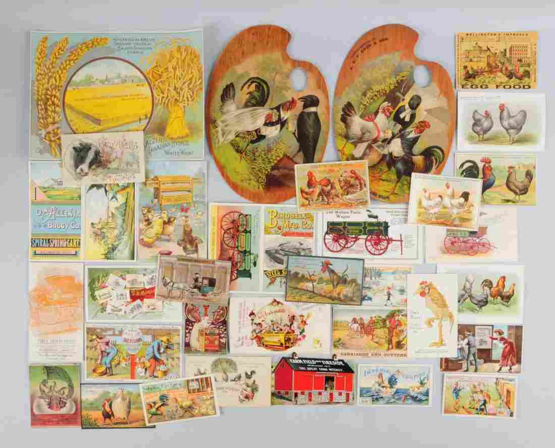 Lot of 20+: Agriculture & Food Trade Cards.