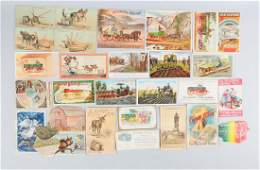 Lot of 20+: Agriculture Related Adv. Trade Cards.