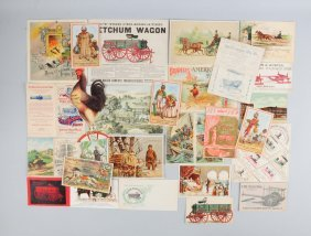 Lot Of 20: Agriculture Brochures & Trade Cards.