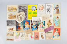 Lot of 20+: Trade Cards & Brochures.