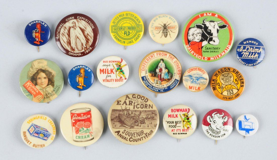 Large Lot of Vintage Celluloid Buttons.